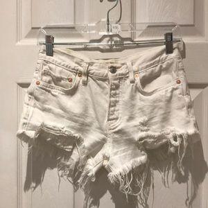 Free People distressed denim jean shorts Size 24